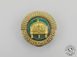 Hungary. A  Second War Period Gendarmerie Cap Badge