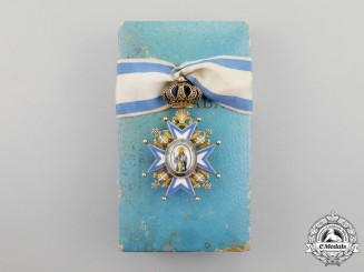 Serbia. An Order of St.Sava; Commander 3rd Class, Type III by Huguerin Freres & Co.