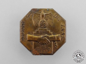 "A 1934 ""The Saar is German"" Celebration Badge"