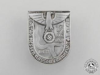 A 1936 Regional Hessen-Nassau (Frankfurt on the Main) Council Day Badge by Gustav Fest