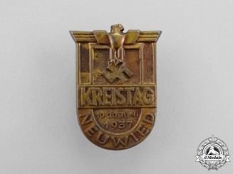 A 1937 Neuwied District Council Day Badge
