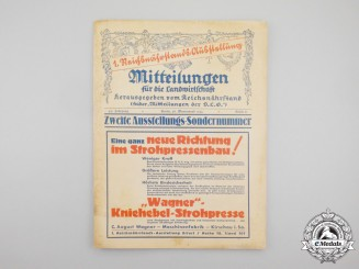 An Issue of Agricultural Magazine for Reich Food Production Exhibition