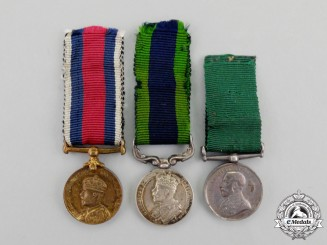 Three British King George V Era Miniature Medals
