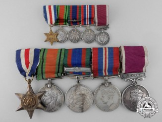 A Second War Canadian Medal Bar to Captain Stanhope Rowton