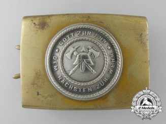 A Weimar Republic Volunteer Fire Defence Service Enlisted Man's Belt Buckle