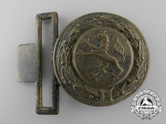 A Hessen Fire Defence Service Officer's Belt Buckle; Published Example