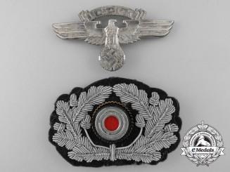 An N.S.K.K. Visor Cap Insignia