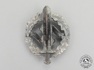 A Third Reich Period Silver Grade SA Sports Badge by W. Redo of Saarlautern
