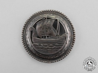 A Second War Sympathizer's Viking Ship Brooch