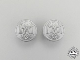A Pair of NSDAP Diplomatic Official's Shoulder Boards Buttons