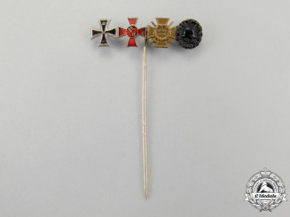 A First War German Stickpin Award of Four
