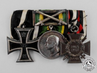 A First War Saxon General Wartime Service Medal Bar Grouping