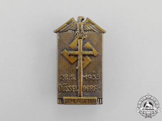 A 1933 Schlageter Commemorative Celebration in Düsseldorf Badge by Paulmann Crone