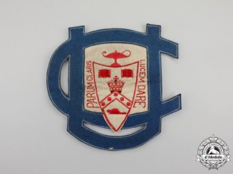 A First War Period University College Jacket Patch