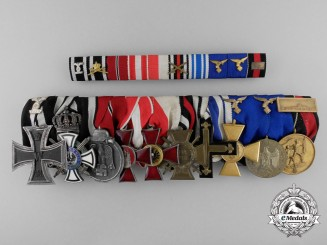 A Fine First & Second War Luftwaffe Medal Bar of Ten