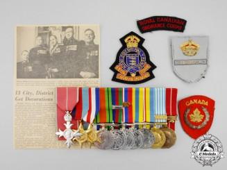 A Canadian Second War & Korean War MBE Group to Captain George Stewart Blake