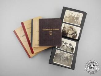 Seven Instruction Manuals & Photo Album of Military Cross Recipient;  Captain Vernon Russell Davies