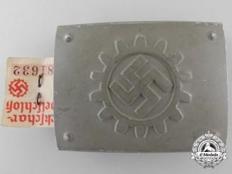 A German Labour Front Stosstrupp of the Werkschar Enlisted Man's Belt Buckle