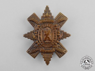 """A First War 13th Infantry Battalion """"Royal Highlanders of Canada"""" Glengarry Badge"""