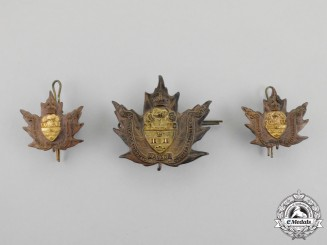 "A First War No. 2 University Company ""University of Toronto"" Officer's Insignia Set"