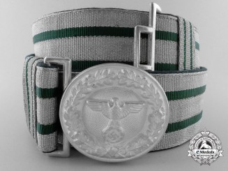 A German National Forestry Service Official's Belt and Buckle for Oberlandforsmeister