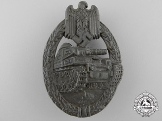 A Bronze Grade Tank Badge by Ferdinand Wiedmann