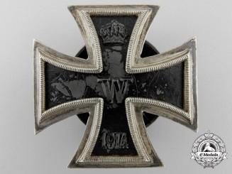 An First Class Iron Cross 1914; Third Reich Screwback