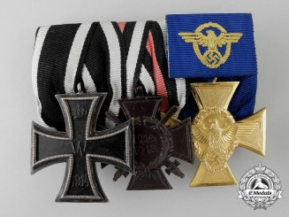 A First War & Police Long Service Medal Bar