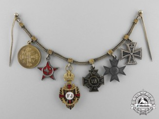 A First War Miniature Medal Award Chain