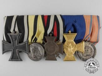 A First War & German Police Long Service Medal Bar