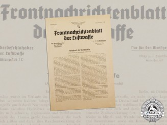 A 1940 Issue of the Front Newspaper of the Luftwaffe