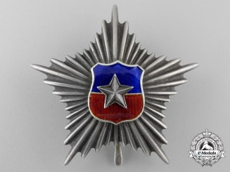 A Chilean Silver Star for Officers for 20 Years Army Service
