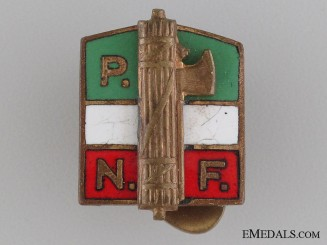 National Fascist Party (PNF) Provincial Sport Agency Pin
