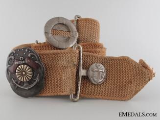 Naval Carpentry Proficiency Badge with Belt & Buckle