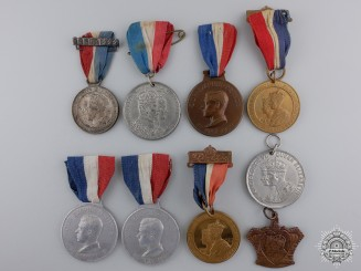 Nine British Coronation & Jubilee Medals