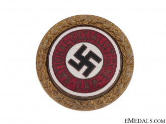 NSDAP Golden Party Badge - J. Fuess