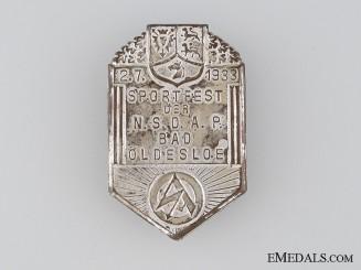 NSDAP/SA Bad Oldesloe Sportfest Tinnie, July 2, 1933