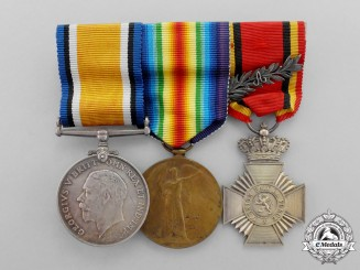 Great Britain. A First War Group with Belgian Military Decoration for Gallantry