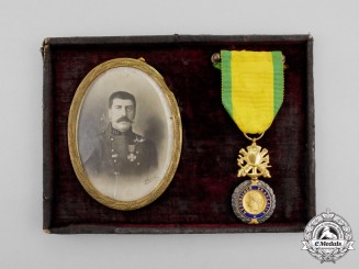 France, Republic. A Military Medal with Recipient's Photo