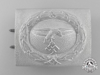 A Mint and Unusual 1935 Pattern Luftwaffe EM/NCO's Buckle; Published
