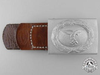 "A Mint 1935 Pattern Luftwaffe EM/NCO's Buckle and Tab ""2/K G 53"""