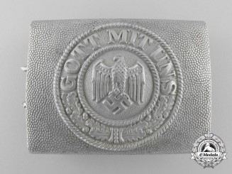 A 1936 Early Army (Heer) Enlisted Man's/NCO's Belt Buckle; Published Example