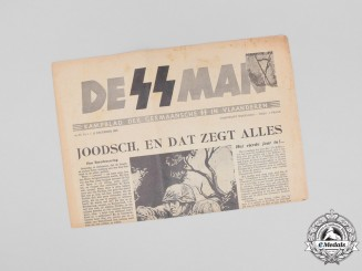 "A 1943 Issue of Belgian Nazi newspaper ""De SS-Man"""