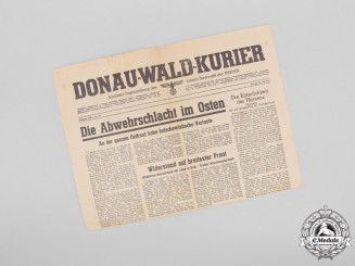 A 1943 Cover of the Donau-Wald-Kurier Regional NSDAP Newspaper