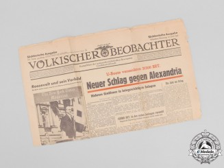 """An Issue of NSDAP Propaganda Newspaper """"Völkischer Beobachter"""", vol. 54, issue 161"""