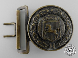 A Westfalen Fire Defence Service Officer's Belt Buckle