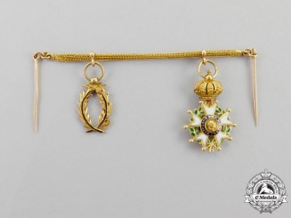 France, Third Republic. A Gold Miniature Pair, c.1866-1870