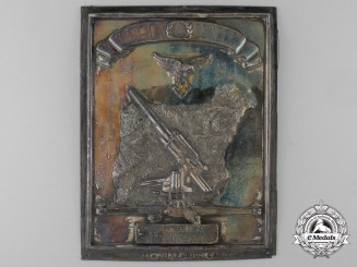 "A Spanish Made Legion Condor Honour Plaque of the Heavy Flak Unit ""F 88"""