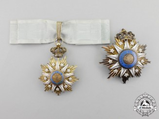 A Portuguese Order of Villa Vicosa, Grand Officer's Set