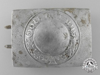 A Police Enlisted Man's/NCO's Belt Buckle by Gebrüder Gloerfeld; Published